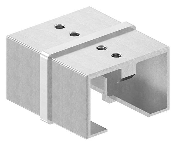 Verbinder | für Rechteck-Nutrohr: 60x40 mm | V2A