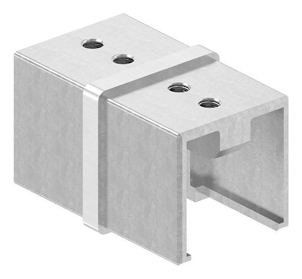 Verbinder | für Quadrat-Nutrohr: 40x40 mm | V2A