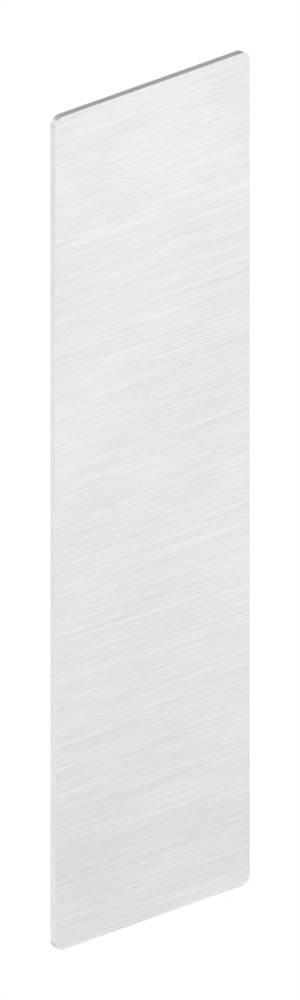 Endkappe | für Ganzglasgeländer | für Schräge bis 41° | Maße: 157x46,5x1,5 mm | Aluminium