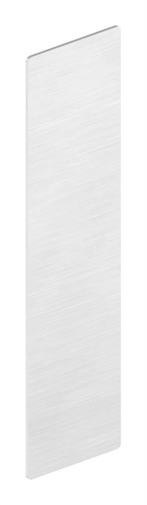 Endkappe | für Ganzglasgeländer | für Schräge bis 41° | Maße: 165x46,5x1,5 mm | Aluminium