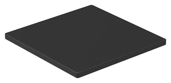 Unterleggummi | für Aluprofil | 100x100x5 mm | für Glas 12,76-13,52 mm