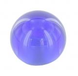 blaue Glaskugel Ø 35 mm mit Sackloch 12,3 mm