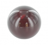 rote Glaskugel Ø 35 mm mit Sackloch 12,3 mm