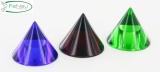 Glaskegel Ø 35 mm mit Sackloch 12,3 mm, Grün