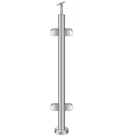 Geländerpfosten | Mittelpfosten | Länge: 1100 mm | für aufgesetzte Montage | V2A