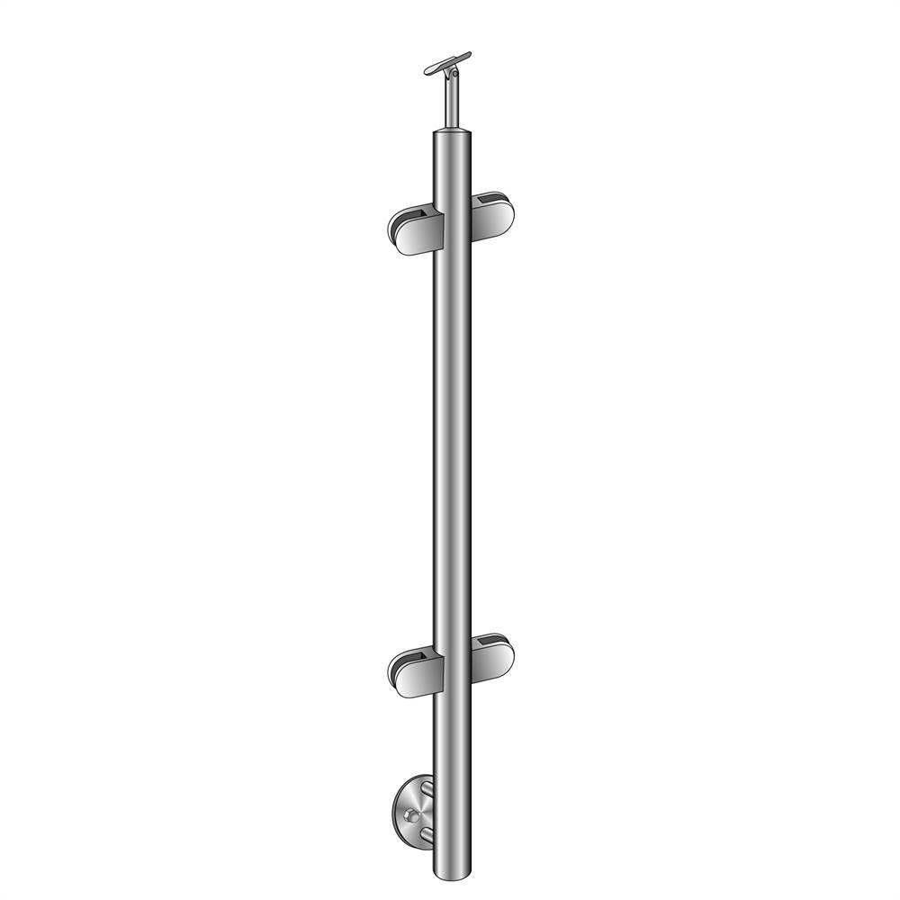 Geländerpfosten | Mittelpfosten | Länge: 1000 mm | für seitliche Montage | V2A