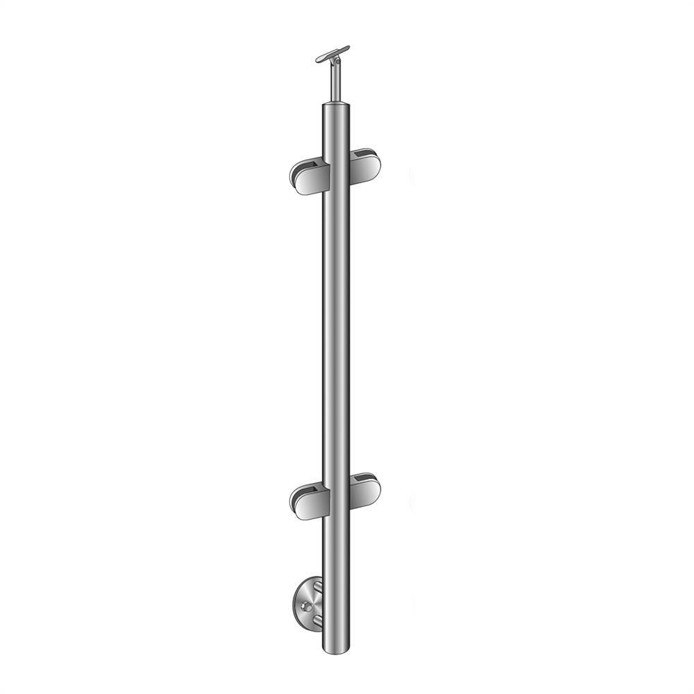Geländerpfosten | Mittelpfosten | Länge: 1100 mm | für seitliche Montage | V2A