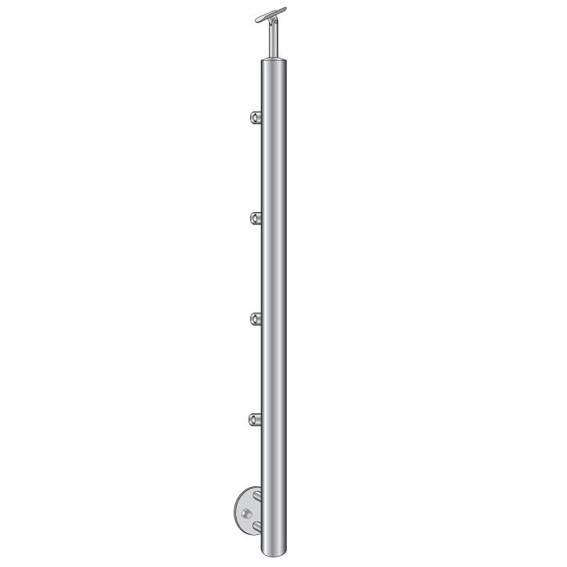 Geländerpfosten | Treppenpfosten| Länge: 900 mm | für seitliche Montage | V2A