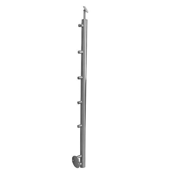 Geländerpfosten | Länge: 900 mm | für seitliche Montage | V2A