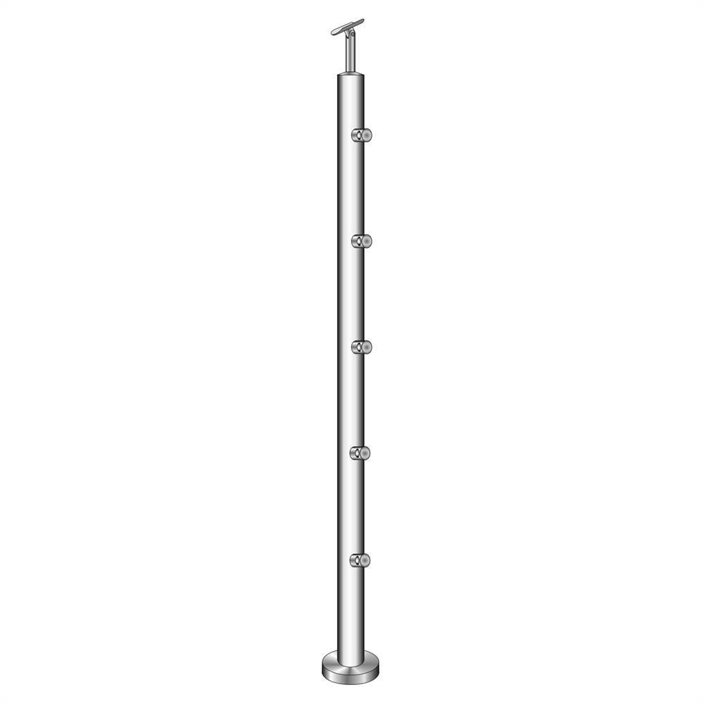 Geländerpfosten   Länge: 1000 mm   für aufgesetzte Montage   V2A