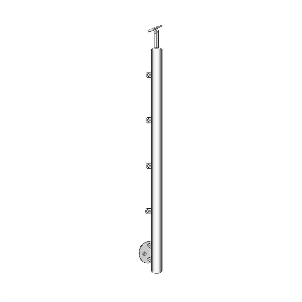 Geländerpfosten | Treppenpfosten | Länge: 900 mm | für seitliche Montage | V2A