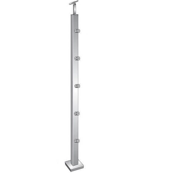 Geländerpfosten | Länge: 1000 mm | für aufgesetzte Montage | V2A