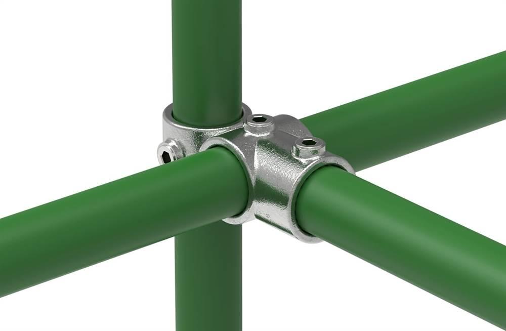 Rohrverbinder   Kreuz-T-Stück kombiniert   165   26,9 mm - 60,3 mm   3/4 - 2   Temperguss u. Elektrogalvanisiert