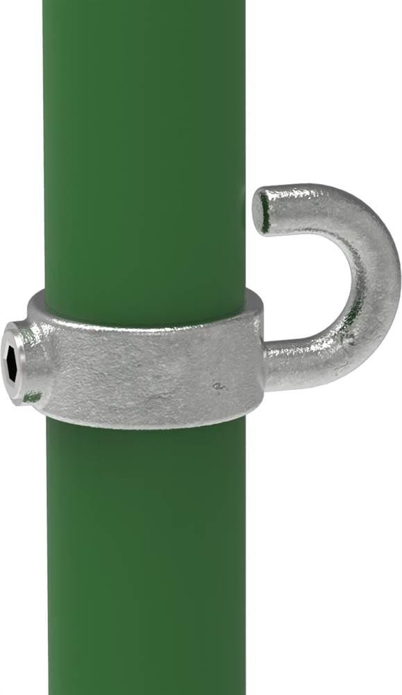 Rohrverbinder | Stellring mit Haken | 182 | 26,9 mm - 60,3 mm | 3/4 - 2 | Temperguss u. Elektrogalvanisiert