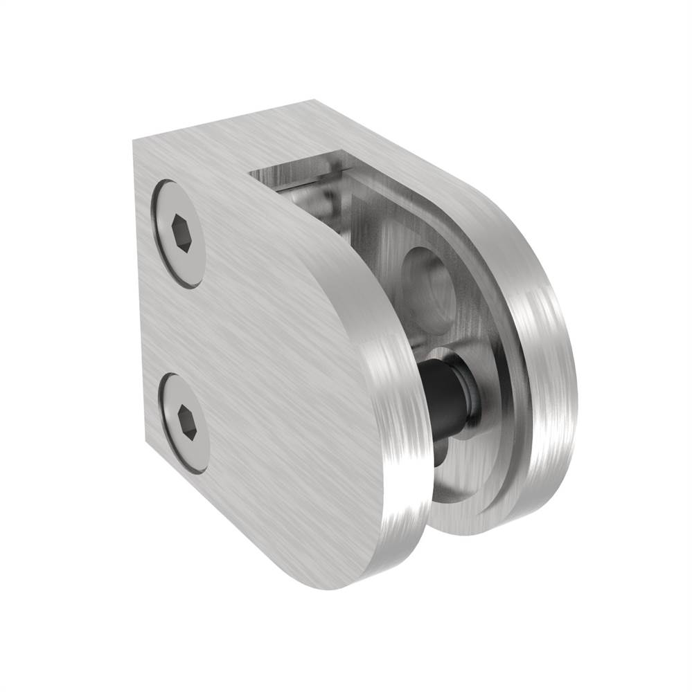Glasklemme   Maße: 50x40x26 mm   Anschluss: Flach - Ø 48,3 mm   V2A