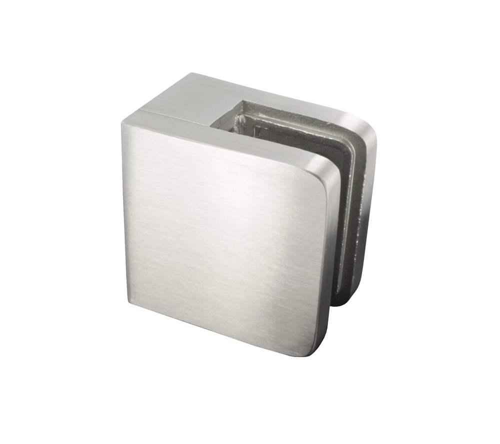 Glasklemme   Maße: 45x45x27 mm   für Anschluss: flach   V2A