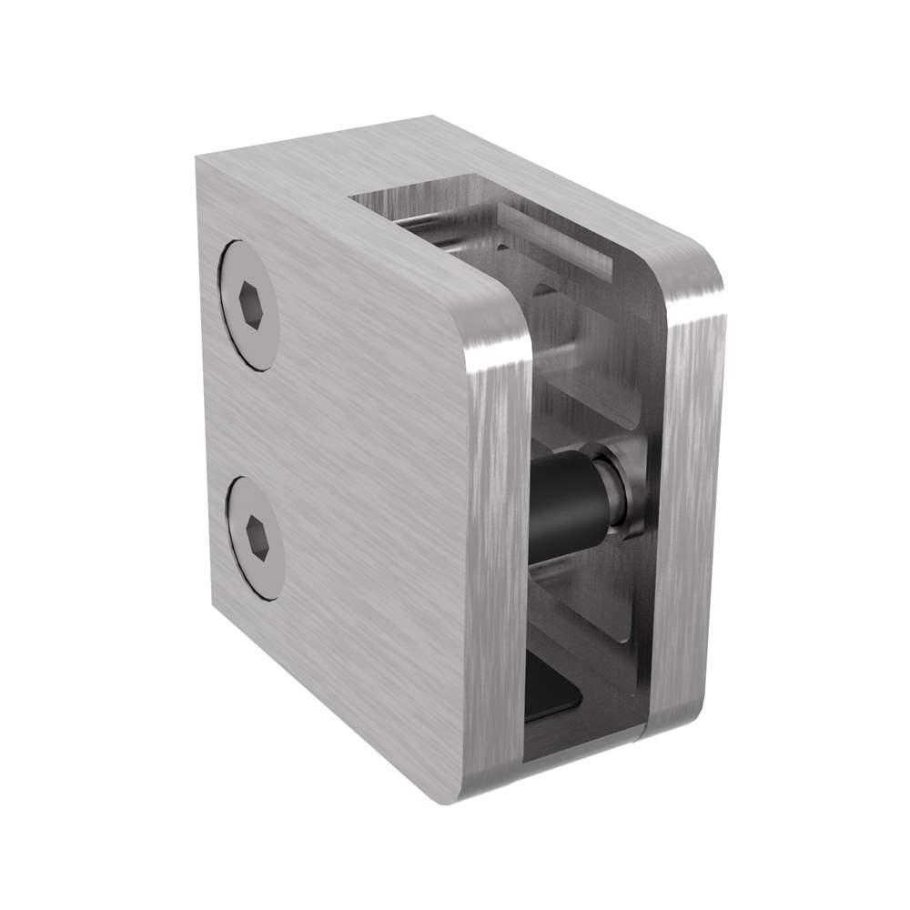 Glasklemme   Maße: 45x45x25 mm   mit Sicherungsboden   für Anschluss: flach   V2A