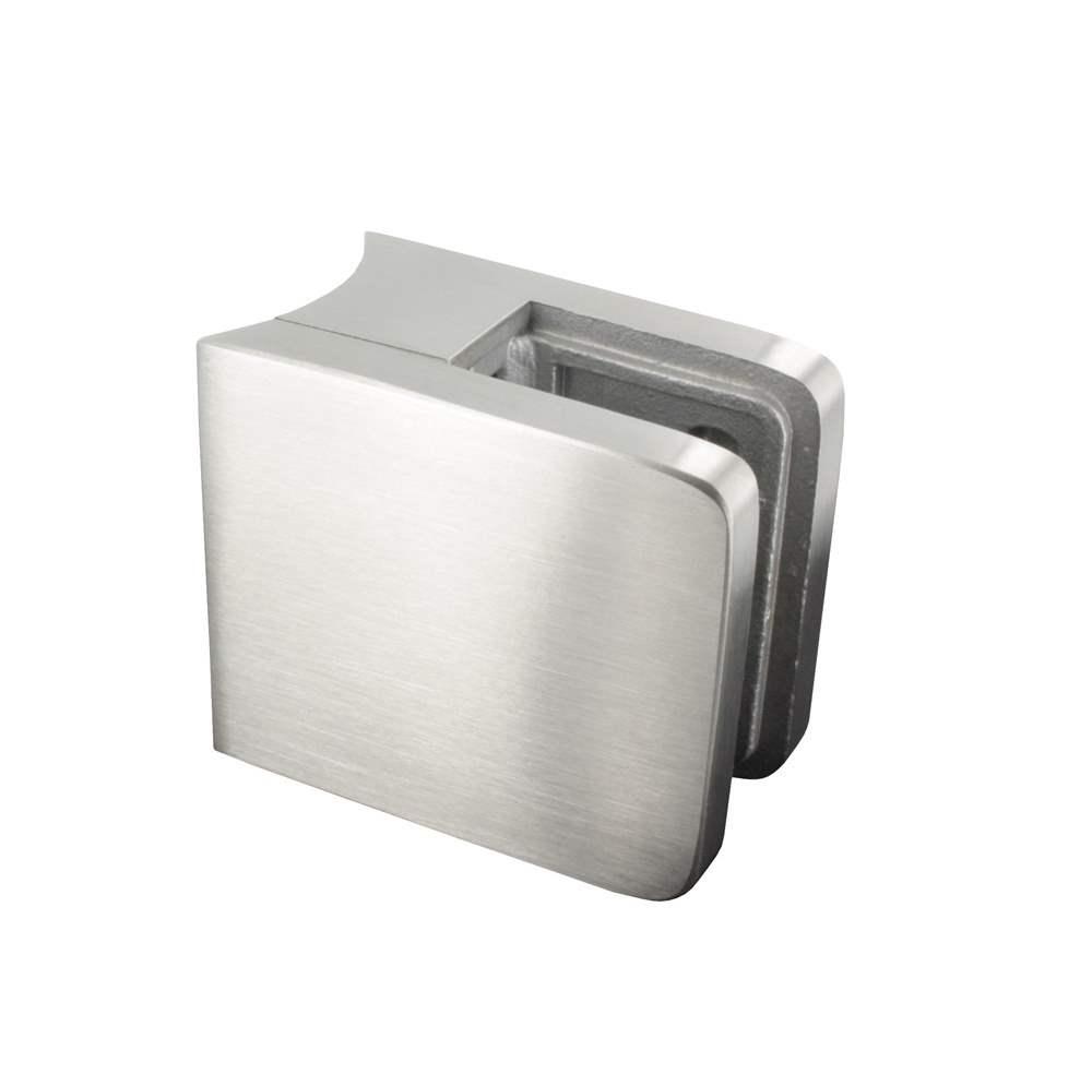 Glasklemme   Maße: 45x45x27 mm   für Anschluss: Ø 42,4 mm   V2A