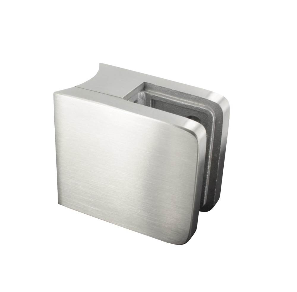 Glasklemme   Maße: 45x45x27 mm   für Anschluss: Ø 48,3 mm   V2A
