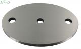 Ronde V2A oval Ø 100 x 88 x 6 mm mit Längsschliff