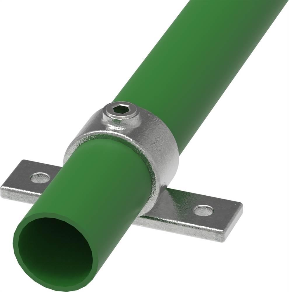 Rohrverbinder | Befestigungsring mit Flansch 2 Bohrungen | 198 | 26,9 mm - 48,3 mm | 3/4 - 1 1/2 | Temperguss u. Elektrogalvanisiert
