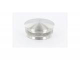 Stopfen leicht gewölbt V2A gegossen für Ø 33,7x2,0 mm