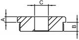 Stopfen flach V2A Vollmaterial für Ø 33,7x2,0 mm mit Bohrung 12,1 mm