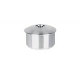 Stopfen leicht gewölbt V2A gegossen mit M8 für Ø 33,7x2,0 mm zum Einkleben
