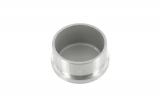 Stopfen flach V2A gegossen zum Einkleben für Ø 42,4x2,0 mm