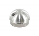 Stopfen halbrund V2A Vollmaterial mit M8 45° für Ø 48,3x2,0 mm