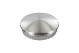 Stopfen leicht gewölbt V2A Vollmaterial für Ø 48,3x2,6 mm