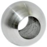 Kugel V2A Ø 25 mm mit Durchgangsbohrung 12,2 mm