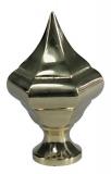poliertes Messingzierteil 93 x 50 mm mit Gewinde M10