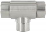 T-Stück V2A reduziert für Rundrohr Ø 42,4x2,0 + 33,7x2,0 mm