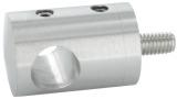 Querstabhalter Ø 22 mm V2A für Füllstäbe 10 mm Anschluss flach