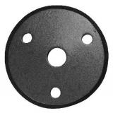 Rosette / Zierteil    Ø 70x6 mm leicht gewölbt mit Fase   Stahl (Roh) S235JR