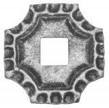 Rosette / Zierteil    quadratisch 75x75x5 mm   Stahl (Roh) S235JR
