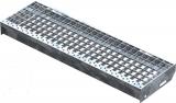 Gitterroststufe XSL 800x240 mm 30/30 mm