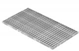 Lichtschachtrost Baunormrost 490x890x25 mm 30/30 mm
