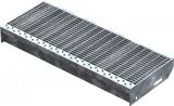 Gitterroststufe XSL 600x240 mm 30/10 mm