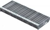 Gitterroststufe XSL 700x270 mm 30/10 mm
