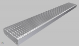 Gitterroststufe XXL 1600x350 mm 30/30 mm