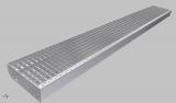 Gitterroststufe XXL 2100x400 mm 30/30 mm