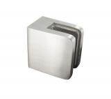 Glasklemme 45x45x27 mm V2A für Anschluss flach