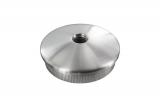 Stopfen leicht gewölbt V2A Vollmaterial mit M8 für Ø 42,4x3,0 mm