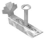 Gitterrostklemme V2A für Rosthöhe 30 mm und MW 30/10 mm