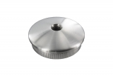 Stopfen leicht gewölbt V2A Vollmaterial mit M10 für Ø 42,4x2,0 mm