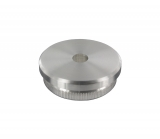 Stopfen flach V2A Vollmaterial für Ø 42,4x2,6 mm mit Entwässerungsbohrung 5 mm