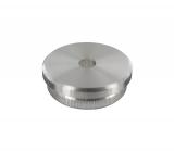 Stopfen flach V2A Vollmaterial für Ø 48,3x2,0 mm mit Entwässerungsbohrung 5 mm