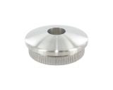 Stopfen leicht gewölbt V2A Vollmaterial für Ø 42,4x3,0 mm mit Bohrung 12,1 mm